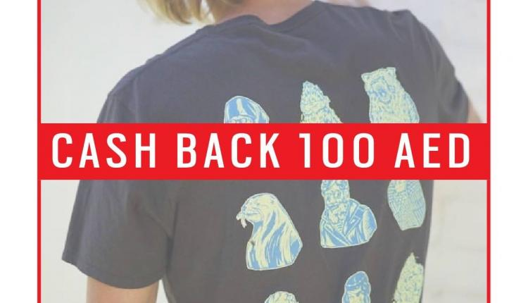 Spend 300 and get AED 100 cash back Offer at New Era, August 2017