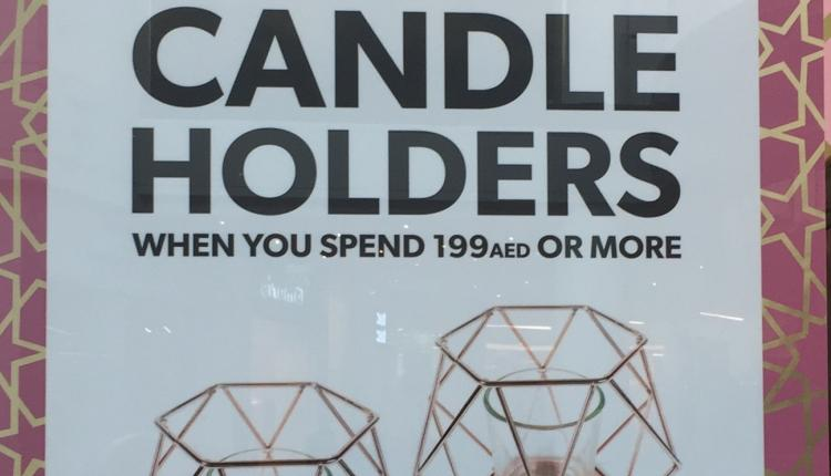 Spend 199 and win a free CANDLE HOLDERS Offer at New Look, June 2017