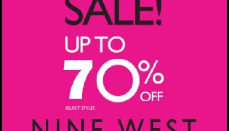 30% - 70% Sale at Nine West, October 2017