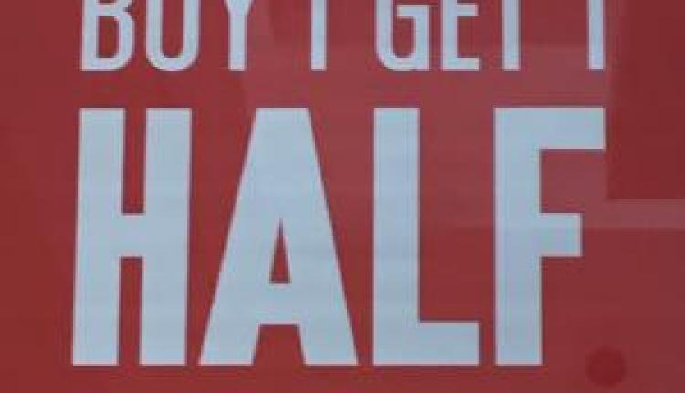 Buy 1 And get 1 half price Offer at Oakley, April 2017