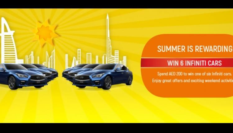 Spend 200 and get a chance to win 1 of 6 infiniti cars Offer at Oasis Centre, August 2017