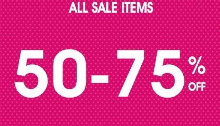 50% - 75% Sale at Oasis, November 2017