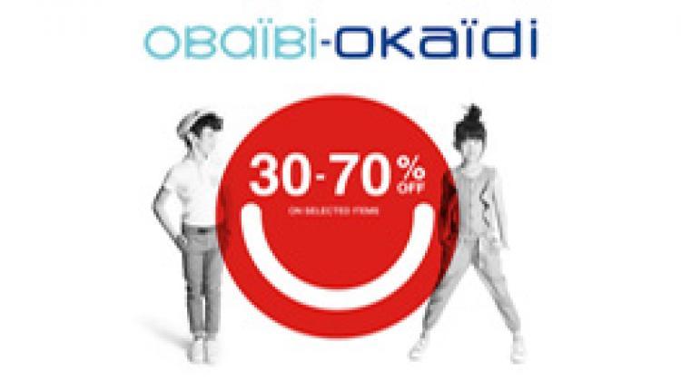 30% - 70% Sale at Okaidi, July 2017