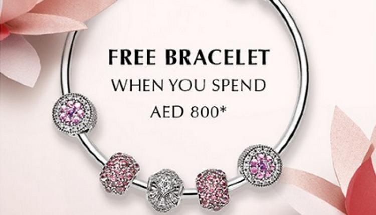 Spend 800 and get a Free bracelet Offer at Pandora, July 2016