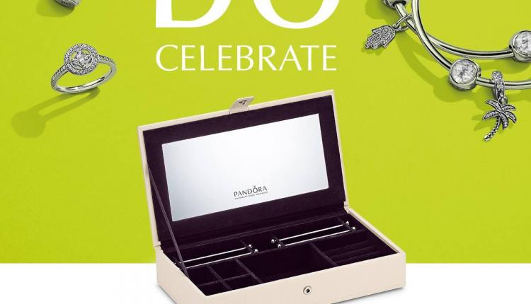 Spend 750 and receive a jewellery box. Offer at Pandora, June 2017