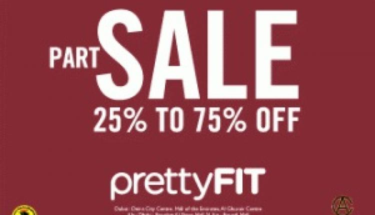 25% - 75% Sale at Pretty fit, December 2014