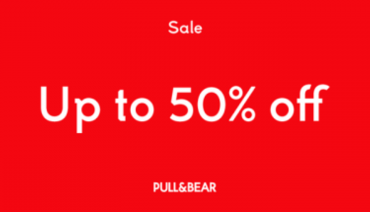 Up to 50% Sale at Pull & Bear, July 2017