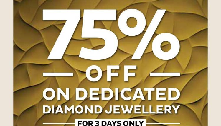 Up to 75% Sale at PURE GOLD JEWELLERS, April 2018