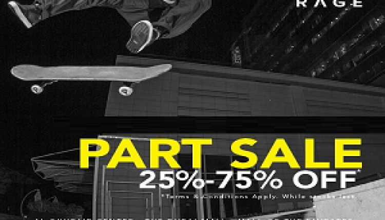 25% - 75% Sale at Rage, May 2016