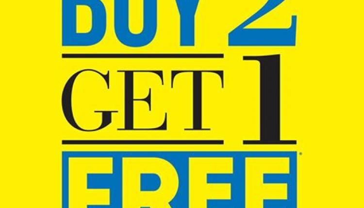 Buy 2 and get 1 Offer at Red Tag, April 2017