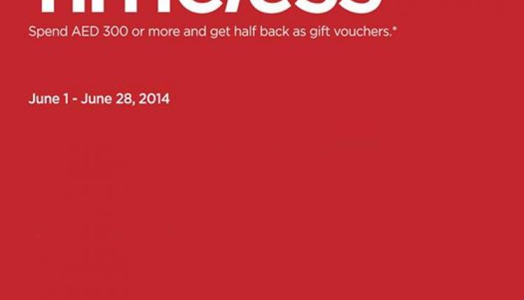 Spend 300 and receive half the value back as gift vouchers. Offer at Rivoli, June 2014