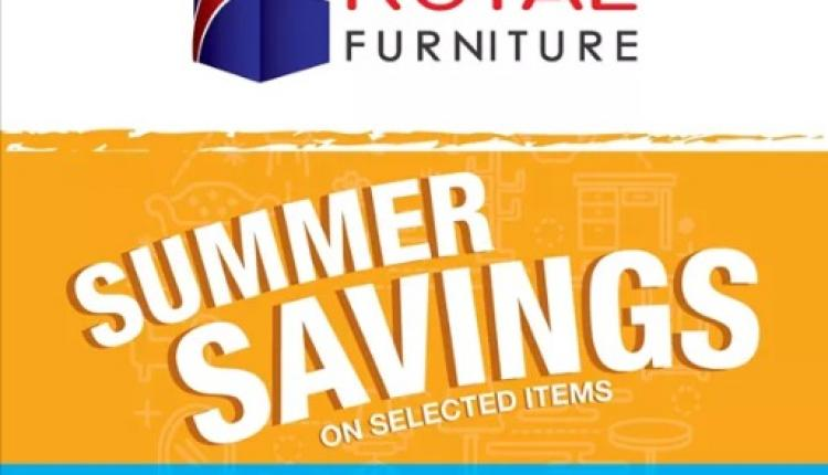 30% - 70% Sale at ROYAL FURNITURE, August 2017