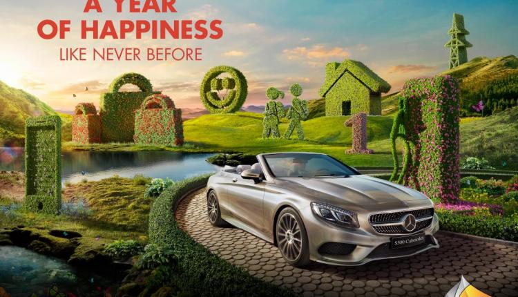 Spend 200 and get a chance to win one of two Mercedes-Benz S 500 Cabriolets or a year of free living expenses! Offer at Sahara Centre, June 2017