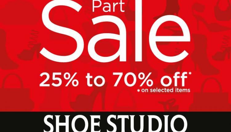 25% - 70% Sale at Shoe Studio, December 2014