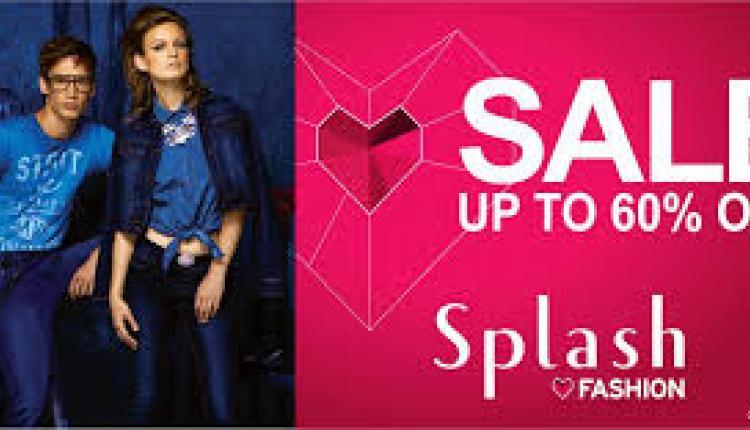 25% - 60% Sale at Splash, August 2017