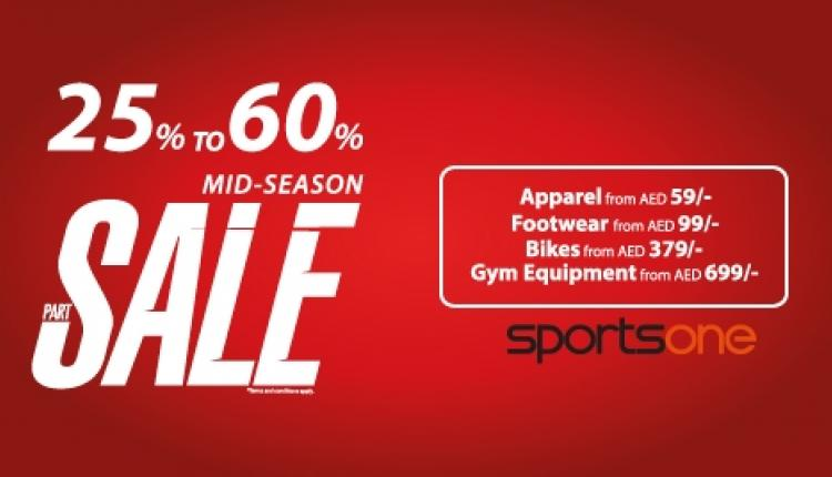 25% - 60% Sale at Sports One, October 2016