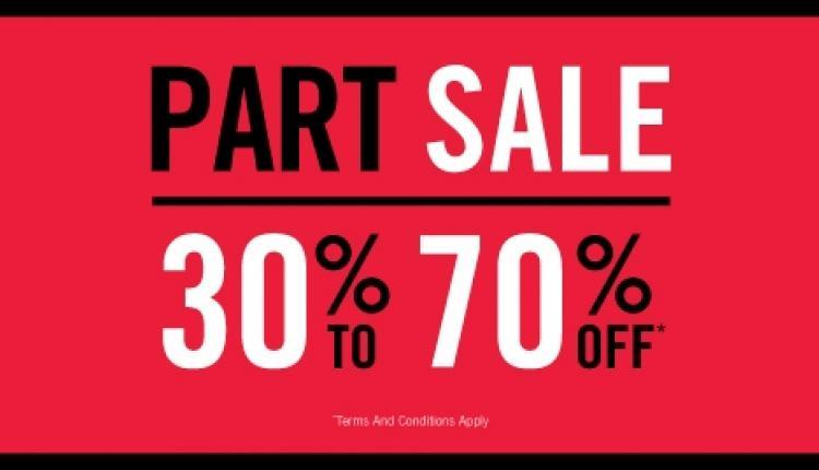 30% - 90% Sale at Steve Madden, May 2017