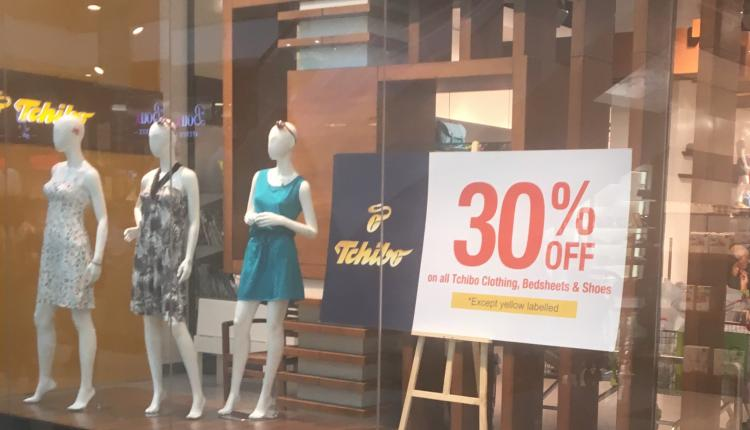 Up to 30% Sale at Tchibo Prozente, May 2017