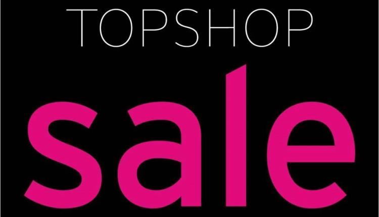 50% - 75% Sale at TOPSHOP, August 2017