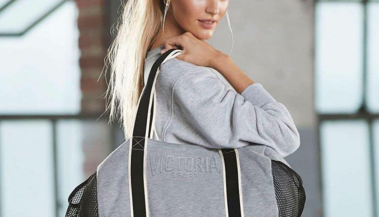 Buy 2 and get a free sport duffel Offer at Victoria's Secret, October 2017