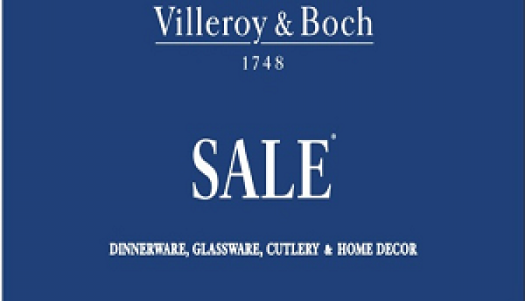 25% - 70% Sale at Villeroy & Boch, August 2016