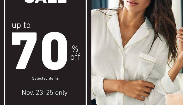 Up to 70% Sale at Women'secret, November 2017