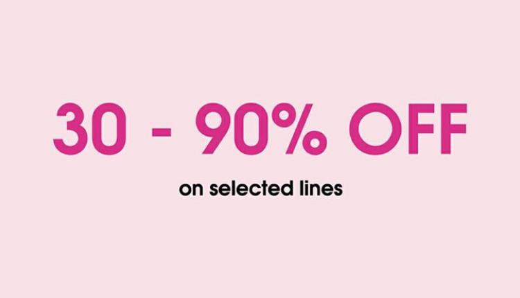 30% - 90% Sale at Yours, December 2016