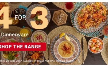 Buy 3 and get 1 Offer at ACE, June 2017