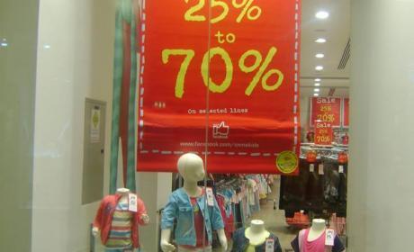 25% - 70% Sale at Adams, September 2014