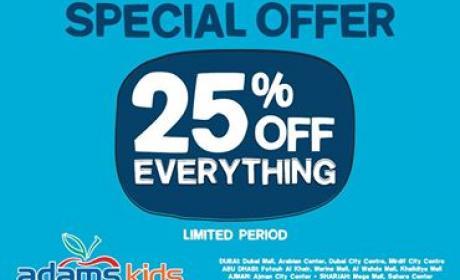 Up to 25% Sale at Adams, November 2014