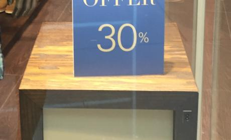 Up to 30% Sale at Adolfo Dominguez, May 2017