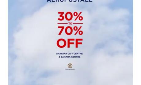 30% - 70% Sale at Aeropostale, July 2018