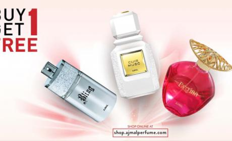 Buy 1 and get 1 Offer at Ajmal Perfumes, August 2018