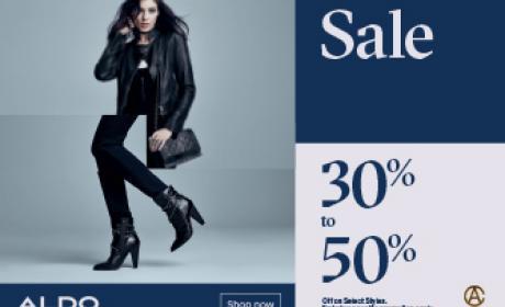 30% - 50% Sale at Aldo, April 2017