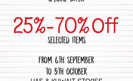 25% - 70% Sale at Annabelle, October 2017