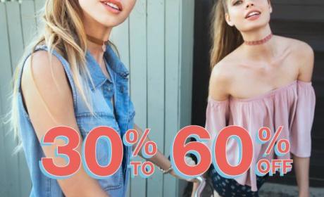 30% - 60% Sale at Ardene, August 2017