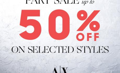 30% - 50% Sale at Armani Exchange, January 2018