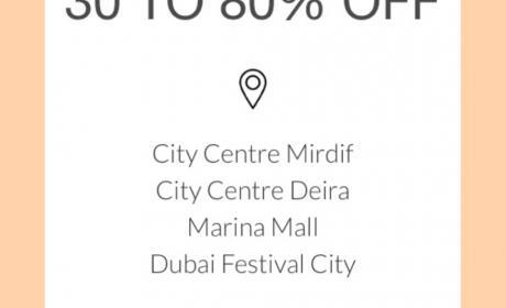30% - 80% Sale at Armani Exchange, May 2018