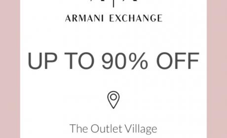 Up to 90% Sale at Armani Exchange, May 2018