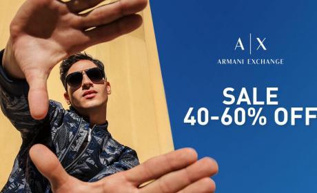 40% - 60% Sale at Armani Exchange, July 2018