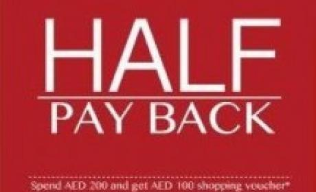 Spend 200 and get AED 100 as gift voucher at its outlets across Dubai. Offer at ARROW, December 2014