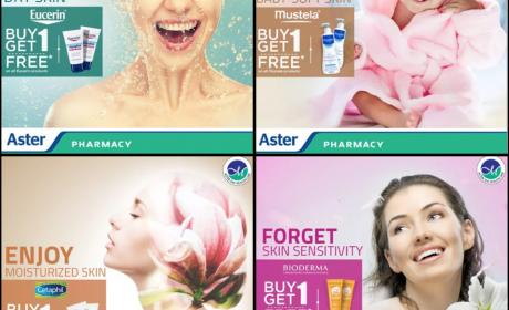 Buy 1 and get 1 Offer at Aster Pharmacy, March 2018