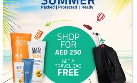 Spend 250 and get a travel bag free Offer at Aster Pharmacy, August 2017