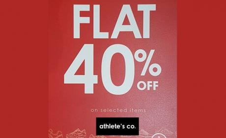 Up to 40% Sale at Athlete's Co., August 2017