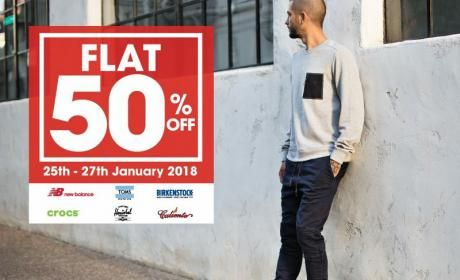 Up to 50% Sale at Athlete's Co., January 2018