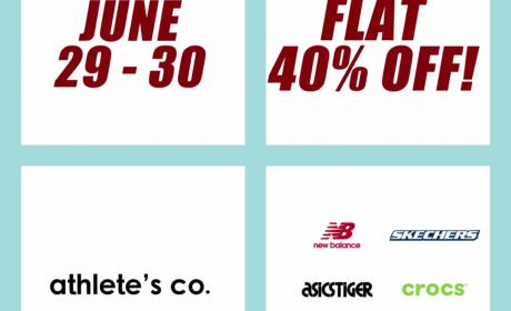 Up to 40% Sale at Athlete's Co., June 2018