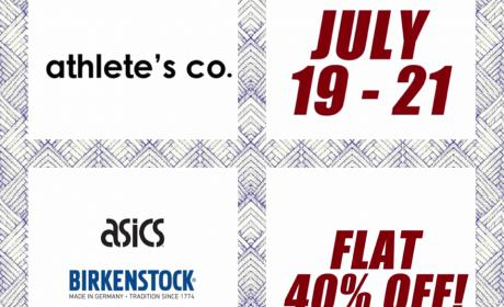 Up to 40% Sale at Athlete's Co., July 2018