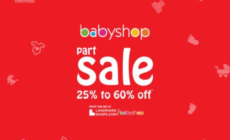 25% - 60% Sale at BabyShop, September 2017