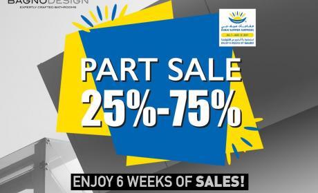 25% - 75% Sale at Bagno Design, August 2017
