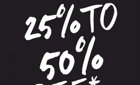 25% - 50% Sale at Banana Republic, February 2016